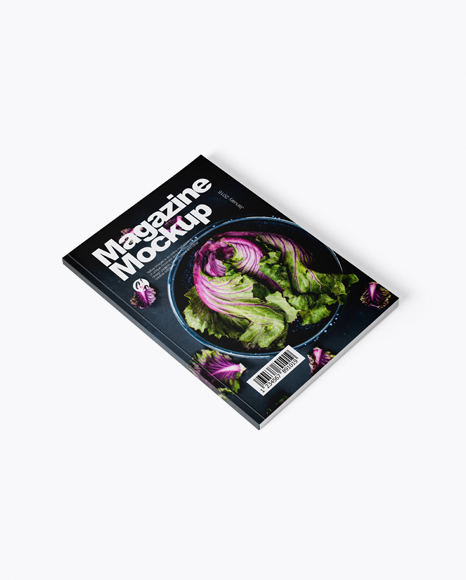 Download Magazine Mockup - Half Side View Object Mockups