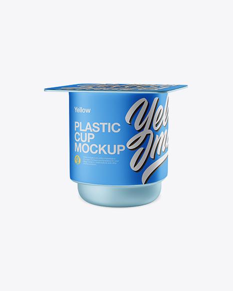 Download Metallic Yoghurt Cup Mockup Half Side View PSD - Free PSD Mockup Templates