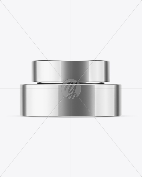 Download 50ml Metallic Cosmetic Jar Mockup PSD - Free PSD Mockup Templates
