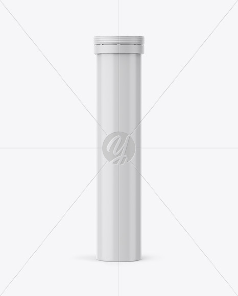 Download Matte Plastic Tablets Tube Mockup Front View In Tube Mockups On Yellow Images Object Mockups PSD Mockup Templates