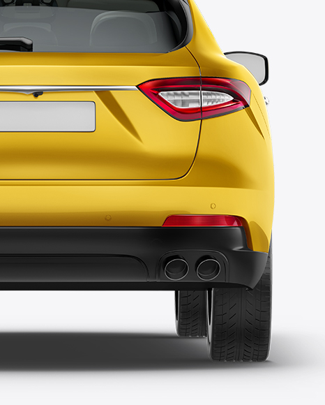 Download Free Maserati Levante Mockup - Back View PSD Template
