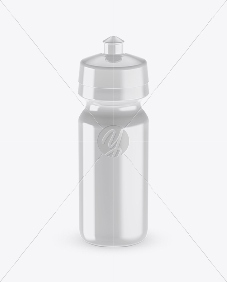 Glossy Sport Bottle Mockup (High-Angle Shot)
