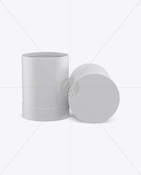 Two Kraft Paper Tubes Mockup