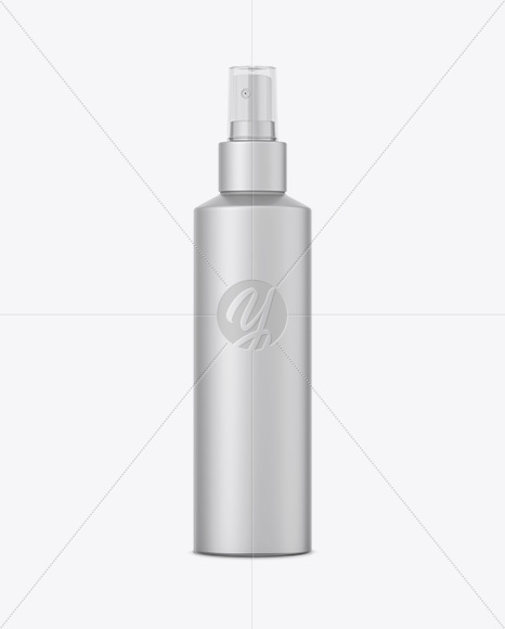 Matte Metallic Cosmetic Sprayer Bottle Mockup