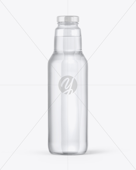 Clear Glass Water Bottle Mockup