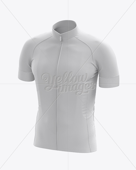 Men's Cycling Jersey Mockup - Front 3/4 View