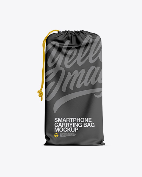 Download Free Textured Smartphone Carrying Bag Mockup PSD Template
