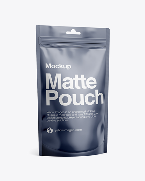 Download Matte Stand-Up Pouch Mockup - Half Side View Object Mockups