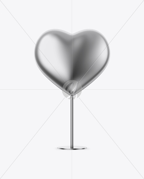 Metallic Heart Shape Stand - Front View