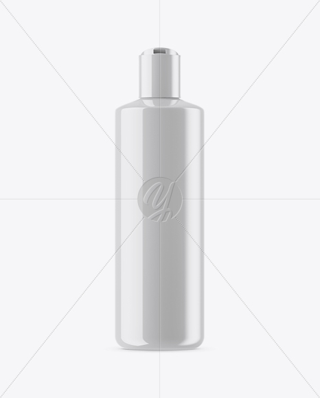 Opened Glossy Cosmetic Bottle Mockup