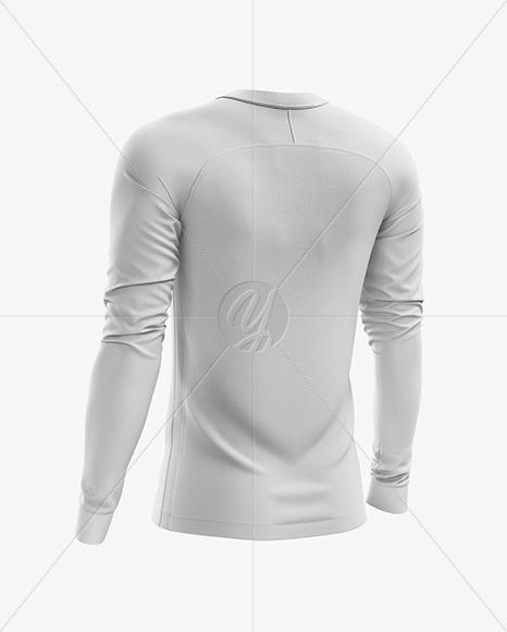 Men's Soccer Jersey LS mockup (Back Half Side View)