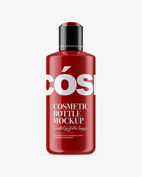 Download Opened Glossy Cosmetic Bottle Mockup Object Mockups