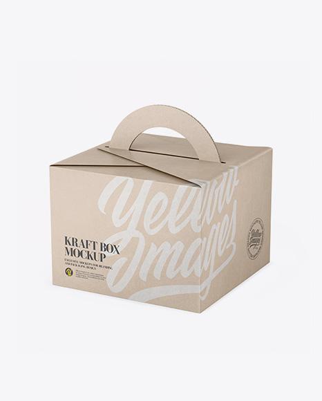 Download Kraft Box Mockup - Half Side View (High Angle Shot) Object Mockups