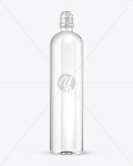 Water Bottle with Sport Cap Mockup