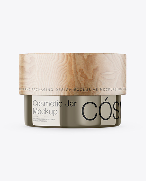 Download Metallic Cosmetic Jar Mockup Object Mockups