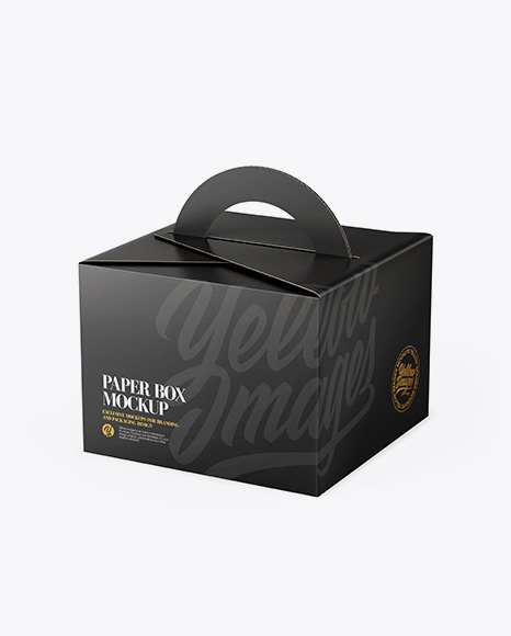 Download Paper Box Mockup - Half Side View (High Angle Shot) Object Mockups