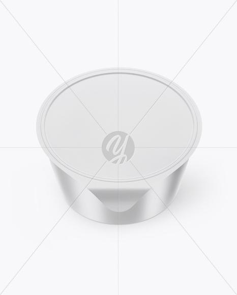Textured Yogurt Cup Mockup (High-Angle Shot)