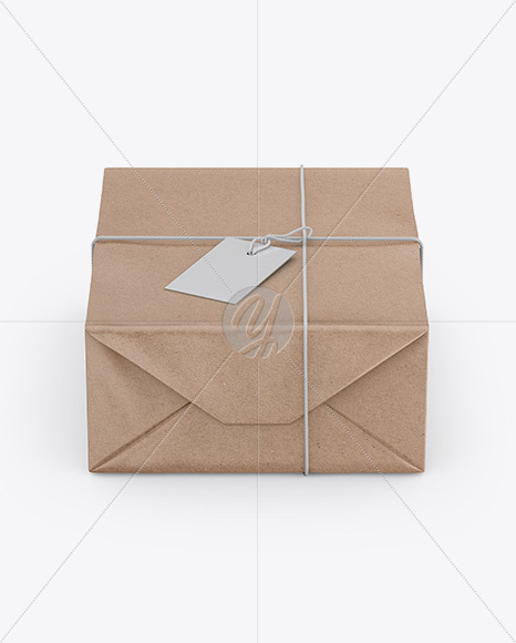 Download Kraft Paper Gift Packaging Mockup Front View High Angle Shot In Packaging Mockups On Yellow Images Object Mockups PSD Mockup Templates