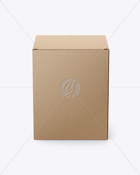Download Kraft Paper Triangular Box Mockup High Angle Shot PSD - Free PSD Mockup Templates