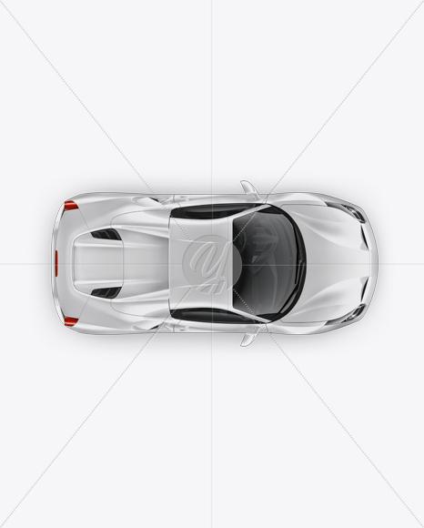 Download Ferrari 488 Mockup - Top view Free Mockups
