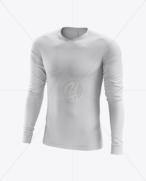 Men's Soccer Team Jersey LS mockup (Half Side View)