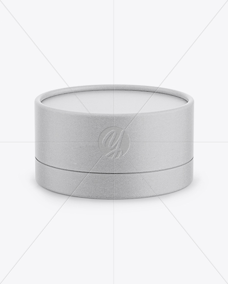 Kraft Paper Round Box Mockup - Front View (High-Angle Shot)