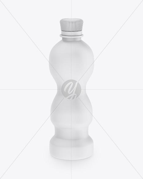 PET Bottle in Matte Shrink Sleeve Mockup