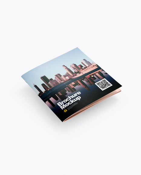 Download Square Brochure Mockup - Half Side View Object Mockups