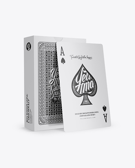 Box with Playing Cards Mockup