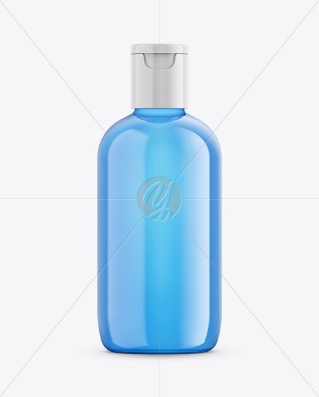 Cosmetic Bottle With Transparent Liquid Mockup