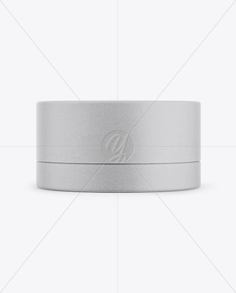 Kraft Paper Round Box Mockup - Front View