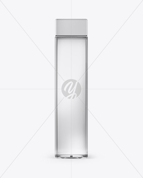 Plastic Cosmetic Bottle Mockup - Front View