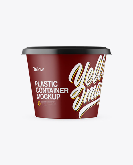 Download Free Matte Plastic Container Mockup PSD Template