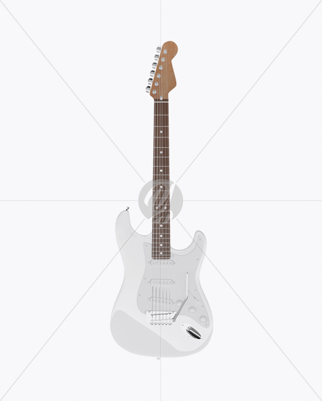 Electric Guitar with Wooden Fingerboard Mockup - Front View