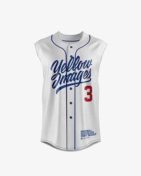 Baseball Sleeveless Shirt Mockup