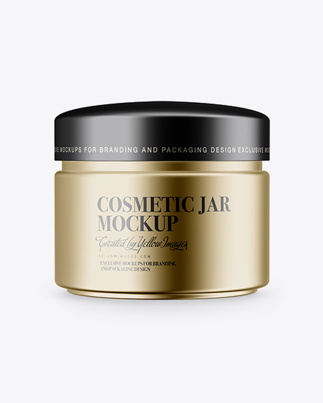 Download Matte Metallic Cosmetic Jar Mockup Object Mockups