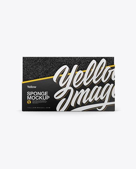 Download Sponge Mockup - Front View Object Mockups