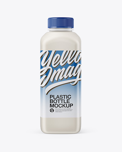 Download Plastic Milk Bottle Mockup - Front View Object Mockups