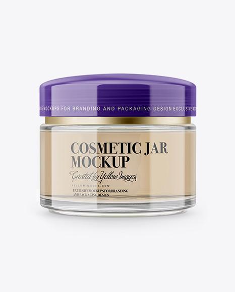 Download Clear Cosmetic Jar Mockup Object Mockups