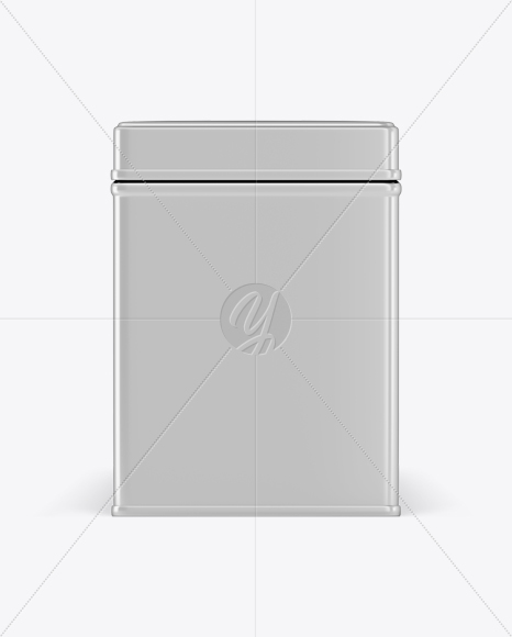 Download Metallic Square Tin Box Mockup Front View In Box Mockups On Yellow Images Object Mockups PSD Mockup Templates