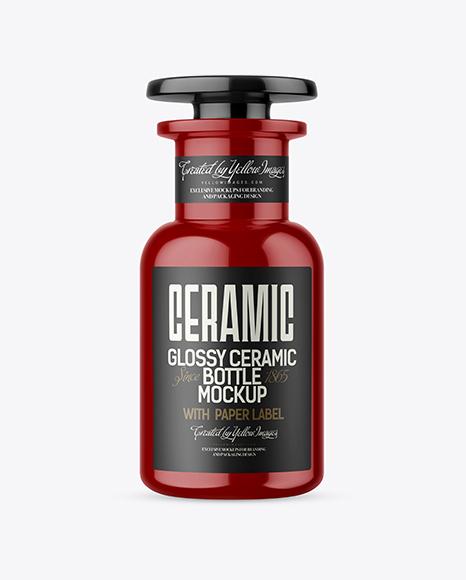 Download Glossy Ceramic Bottle Mockup Object Mockups