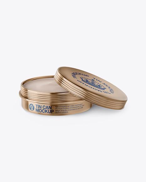 Download Cosmetic Metallic Cream Can Mockup Object Mockups