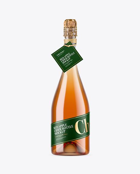 Download Clear Bottle With Cider Mockup Object Mockups