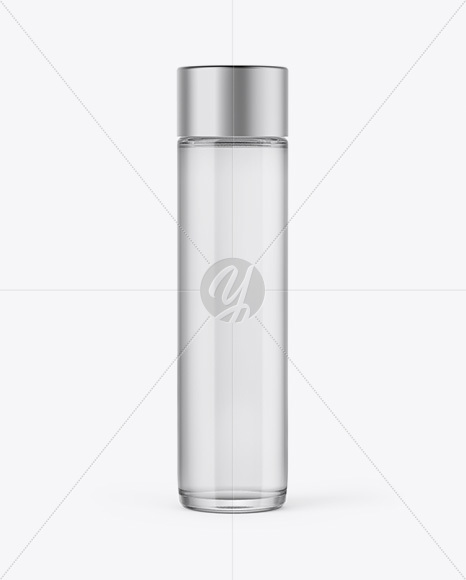 Glass Water Bottle Mockup - Front View
