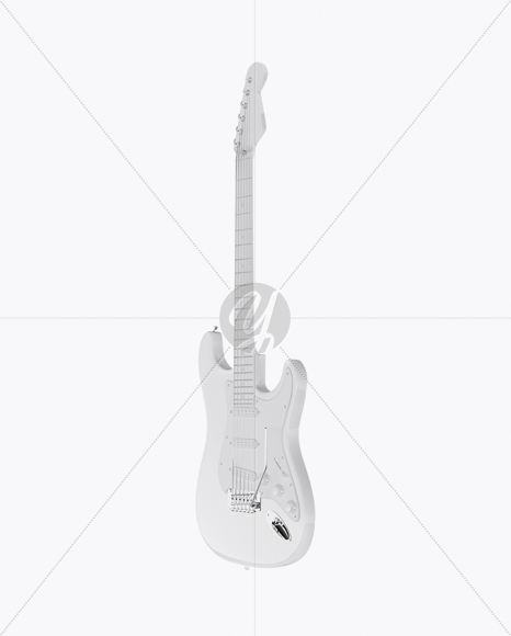 electric guitar mockup half side view in object mockups on yellow 12 String Bass Guitar electric guitar mockup half side view