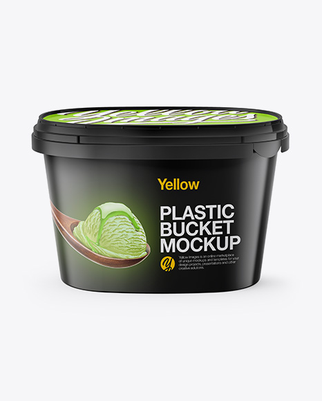 Download Free Plastic Bucket Mockup - Front View (High Angle Shot) PSD Template