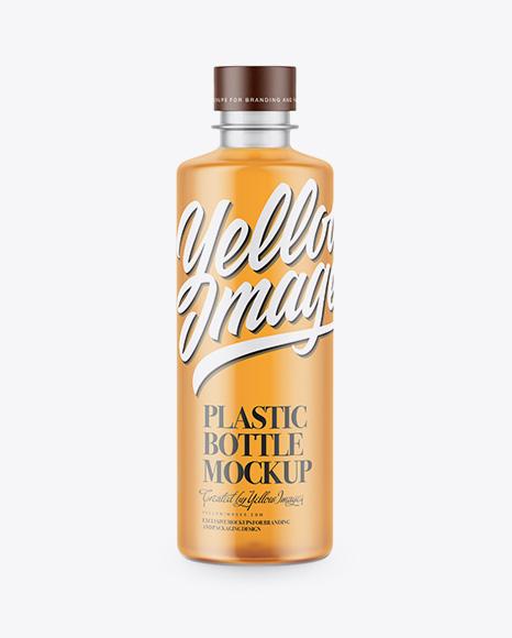 Frosted Plastic Bottle Mockup