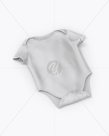 Baby Bodysuit Mockup - Half Side View