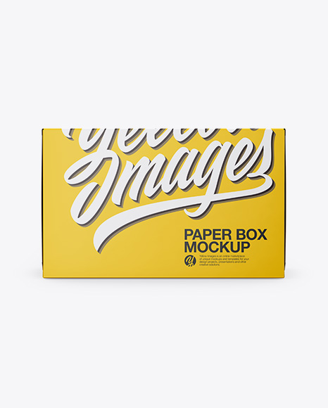 Download Paper Box Mockup - Front & Side Views Object Mockups