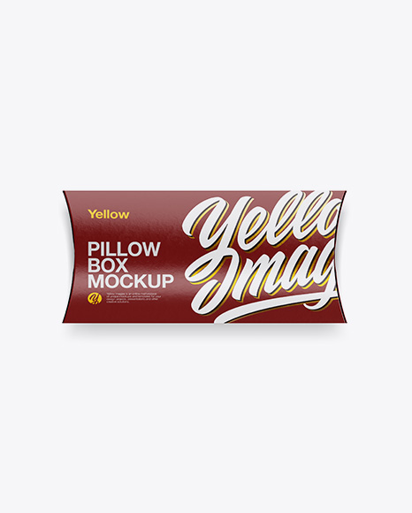 Download Kraft Pillow Box Mockup Top View PSD - Free PSD Mockup Templates